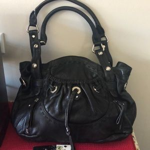 BMakowski black soft leather bag